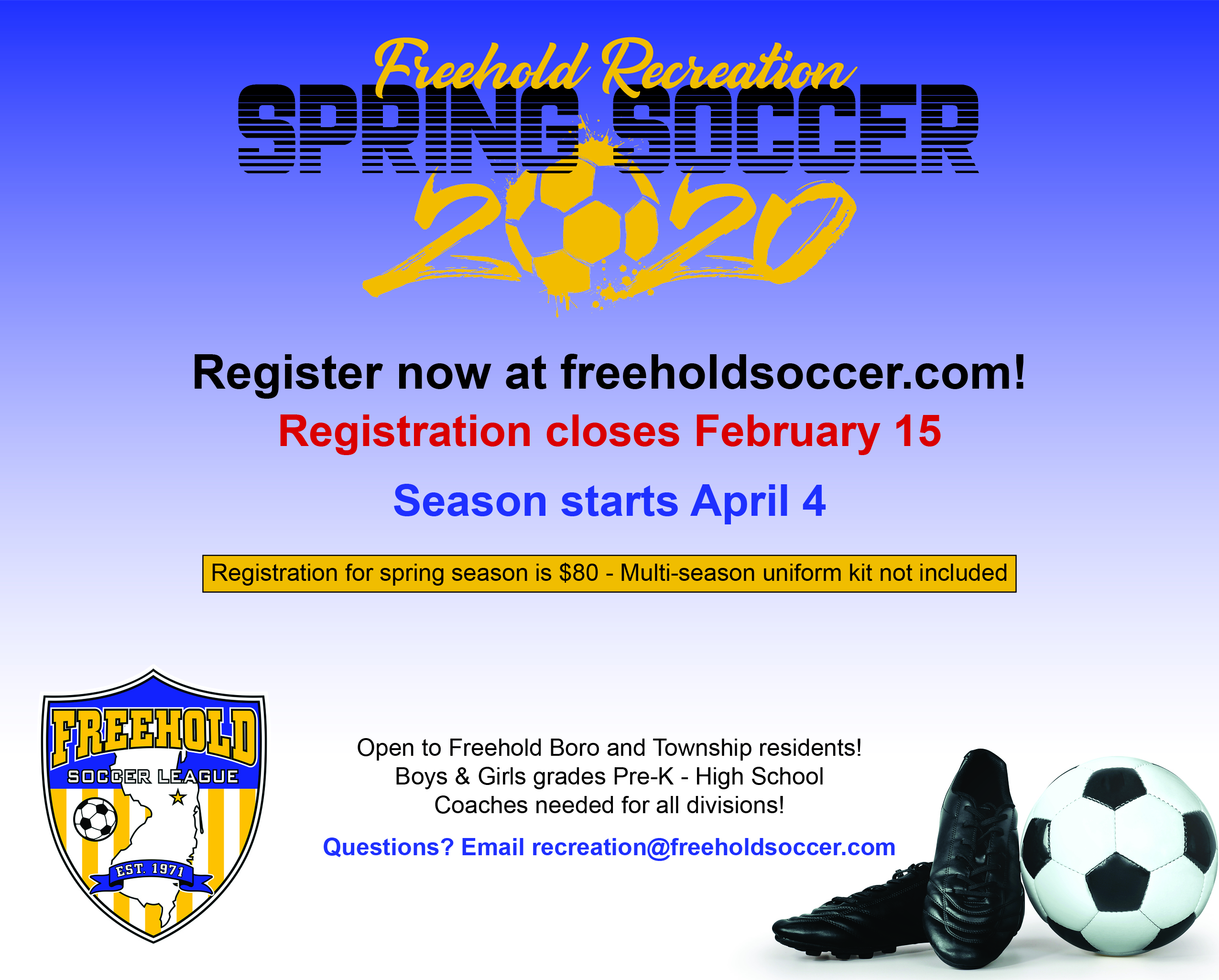 2020 Spring Recreation Soccer